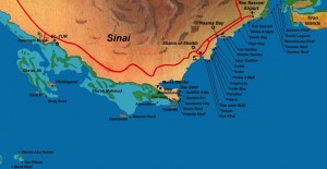 map of sharm el sheikh dive maps